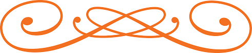 orange decorative line