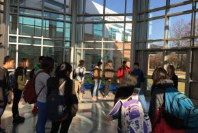 photo of students gathered in circle