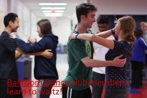 Ballroom Dance club members learn to waltz!